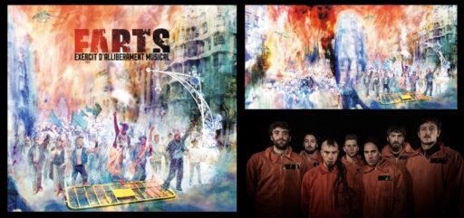 Diseño de CD - Portada de Miquel Cazaña para el cd del grupo EAM, titulado FARTS (HARTOS)
