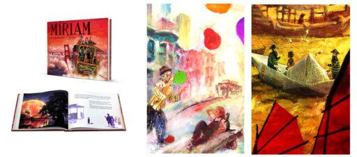El álbum ilustrado MÍRIAM. De somiatruites a rodamón - cuentos con dibujos para niños. Con texto de Ruth Rodriguez Queralt e ilustraciones de Miquel Cazaña