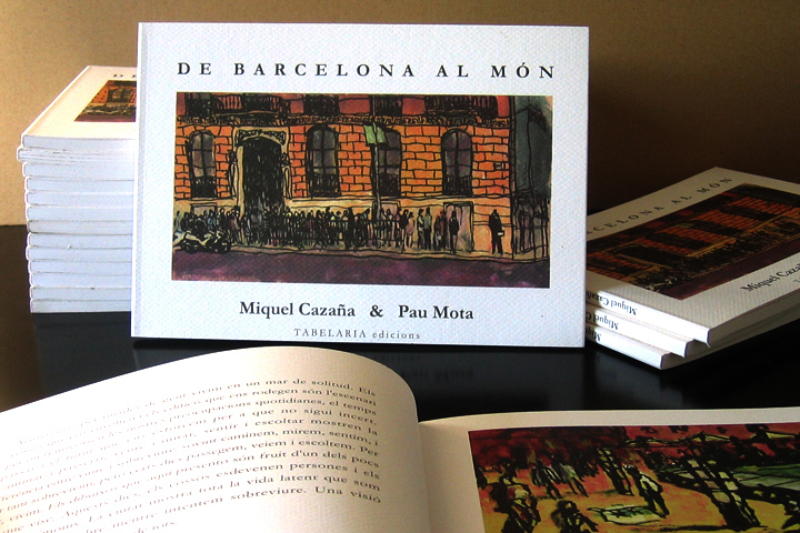 Ilustraciones para adultos en el libro De Barcelona al Món, con textos de Pau Mota. Illustrations for adults in the book From Barcelona to the World, with Pau Mota as a writer