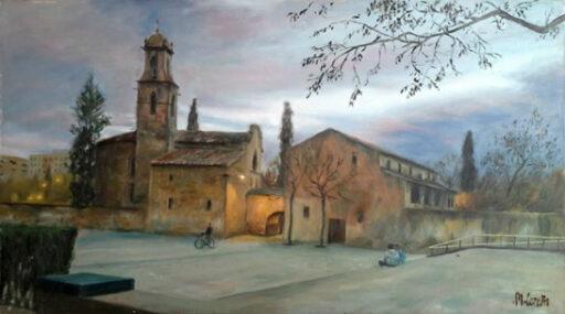 Cuadros de Iglesias. Pintura de Miquel Cazaña realizada en el 2015