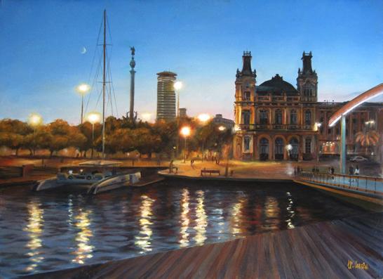 Puerto de Barcelona - Seascape paintings