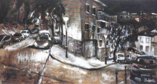 Concursos de pintura rápida - Cuadro Miquel Cazaña Concurs pintura al aire libre de Arenys
