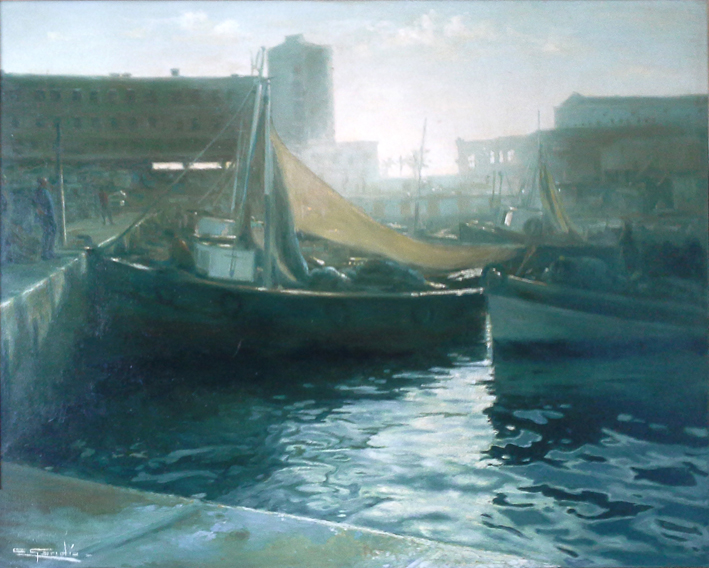 Invirtiendo poco a poco - Mujeres pintoras - Carmen gandía Puerto del Reloj