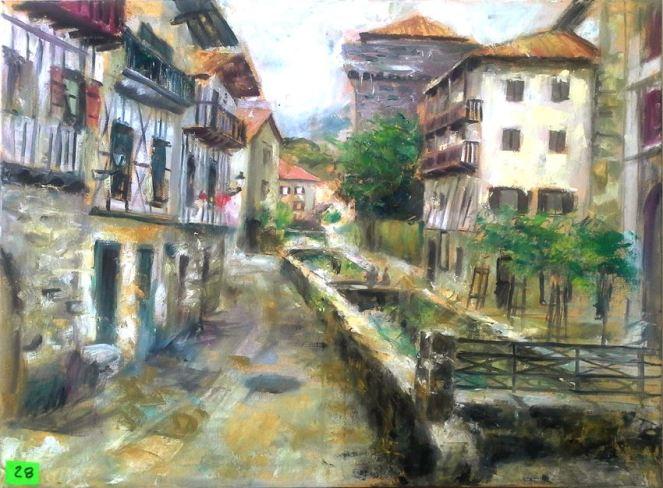 Lesaka concurso de pintura rápida Miquel Cazaña