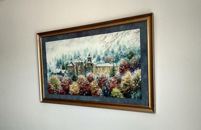 Roncesvalles. Cuadros pintados al óleo de paisajes nevados