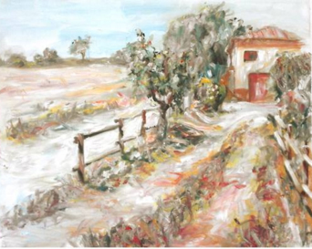 Cuadro Santa Eulàlia de Ronsana - Pintura al aire libre - Autor: Miquel Cazaña