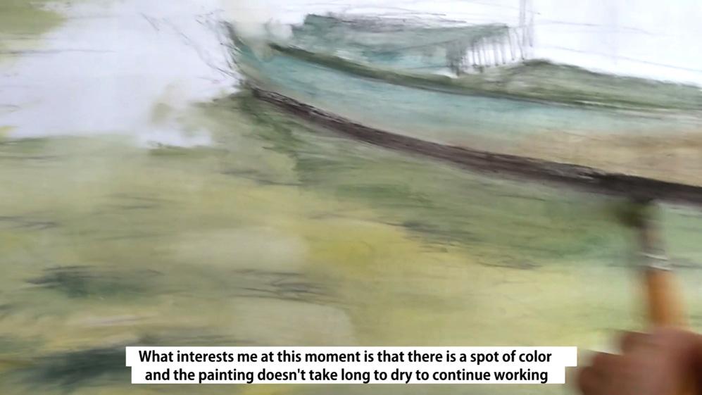 boceto en óleo diluido - cuadros para dormitorio - Miquel Cazaña 2018