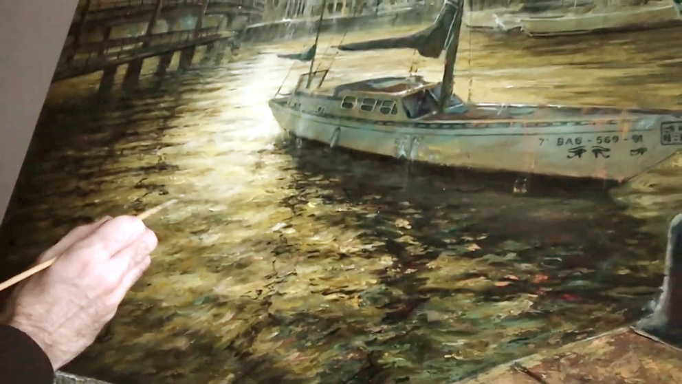 pintar sombras de paisajes al óleo con espátula - Miquel Cazaña 2018