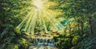 Pinturas al óleo de paisajes campestres - cuadro acabado