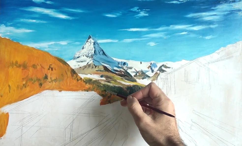 óleos impresionistas actuales- Proceso de pintura de paisaje - Miquel Cazaña 2019