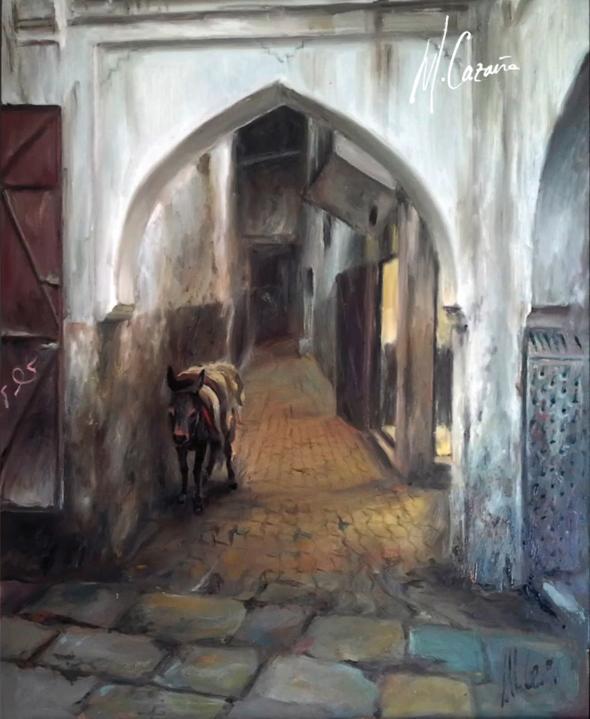 pintura de Marruecos - Miquel Cazaña 2014