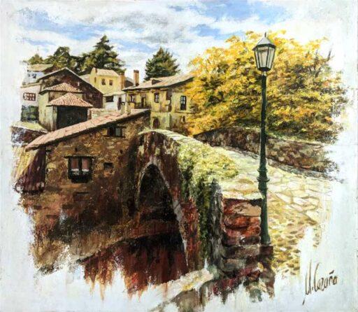 Como pintar casas de pueblo al óleo