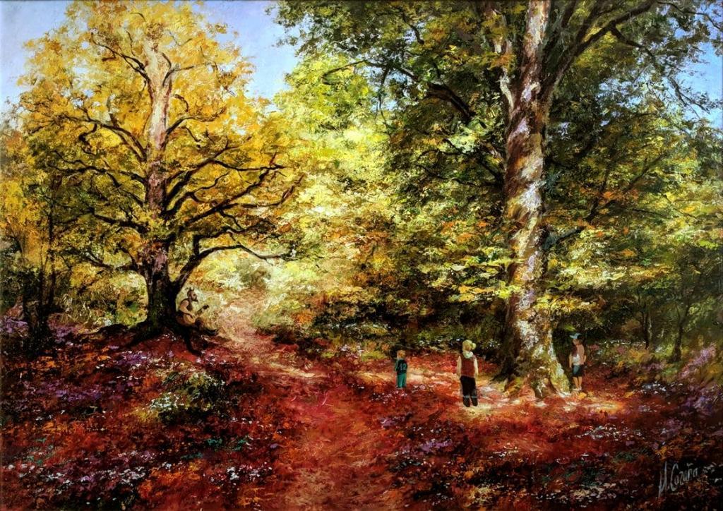 Selva de Irati - óleos de árboles - Miquel Cazaña 2020