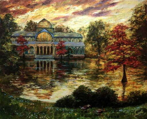 cuadros modernos de paisajes otoñales