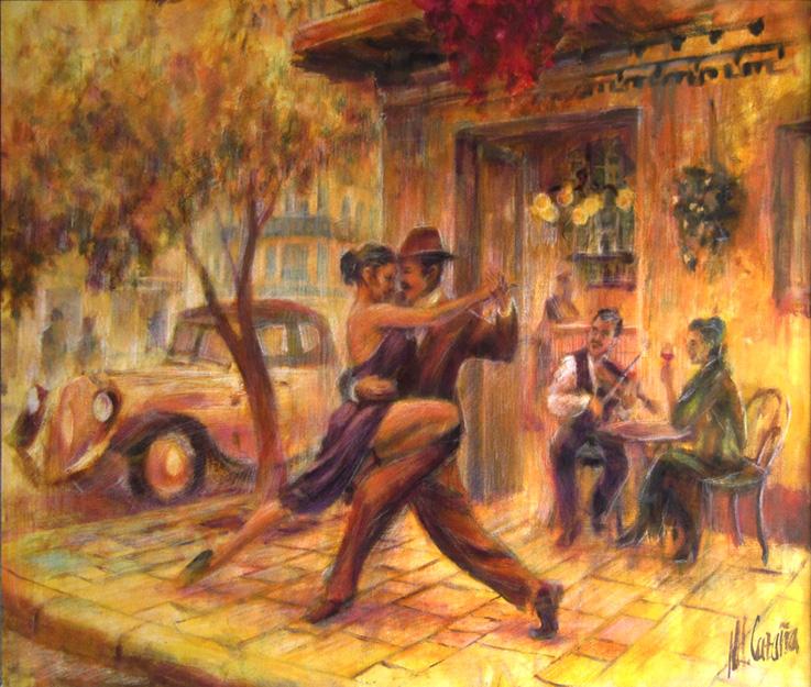 pintura de tango